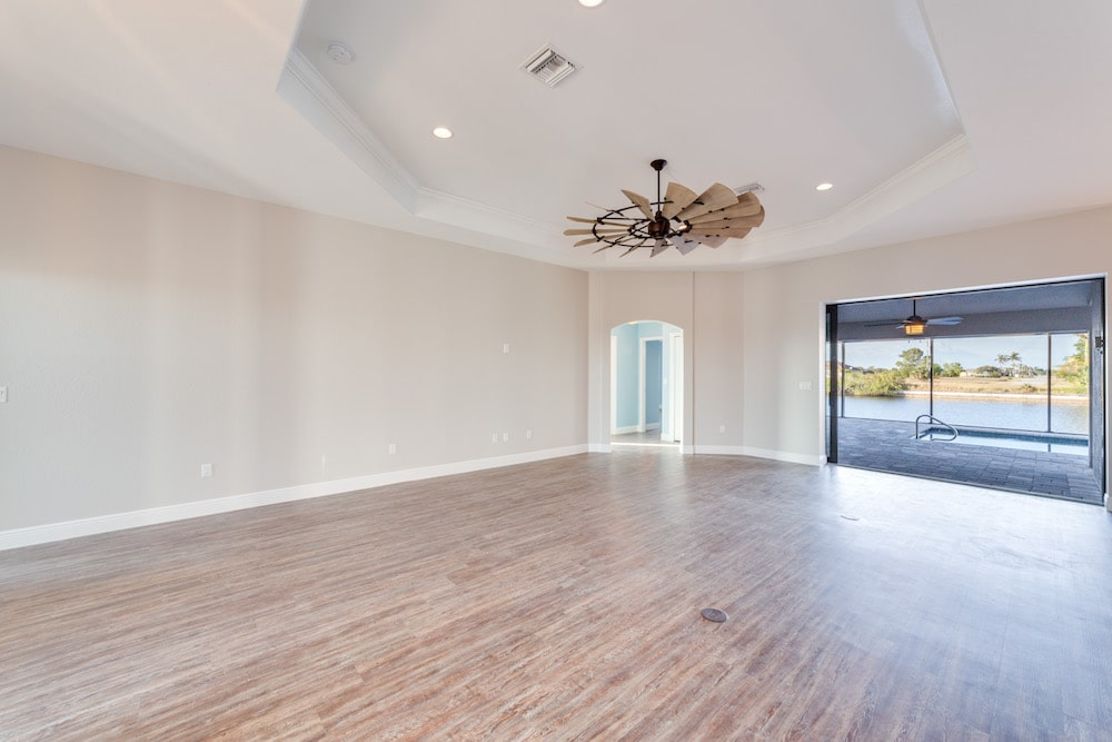 33rd Street Cape Coral Custom Home Builder Living room