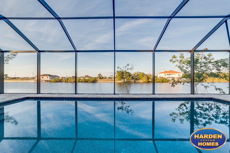 33rd Street Cape Coral Custom Home Builder Pool