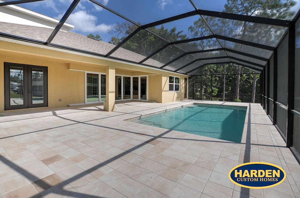 Garland Street Fort Myers Custom Home Builder Lanai and Pool