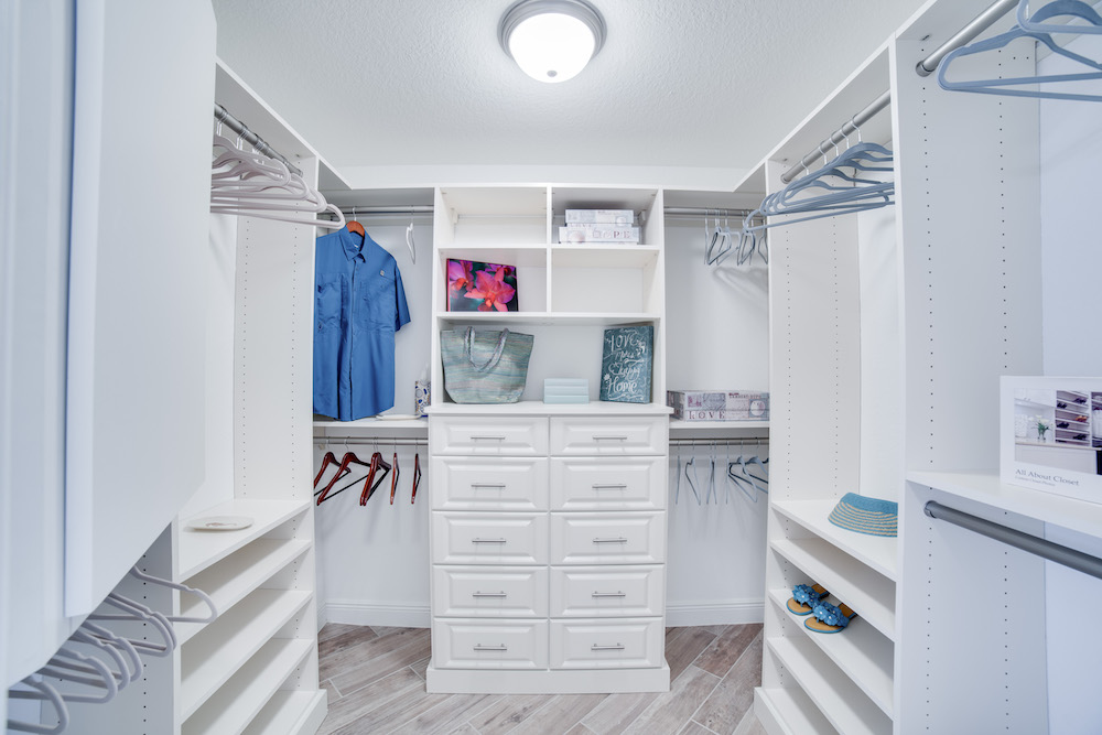 Cape Coral Home Builder Furnished Model Home Closet