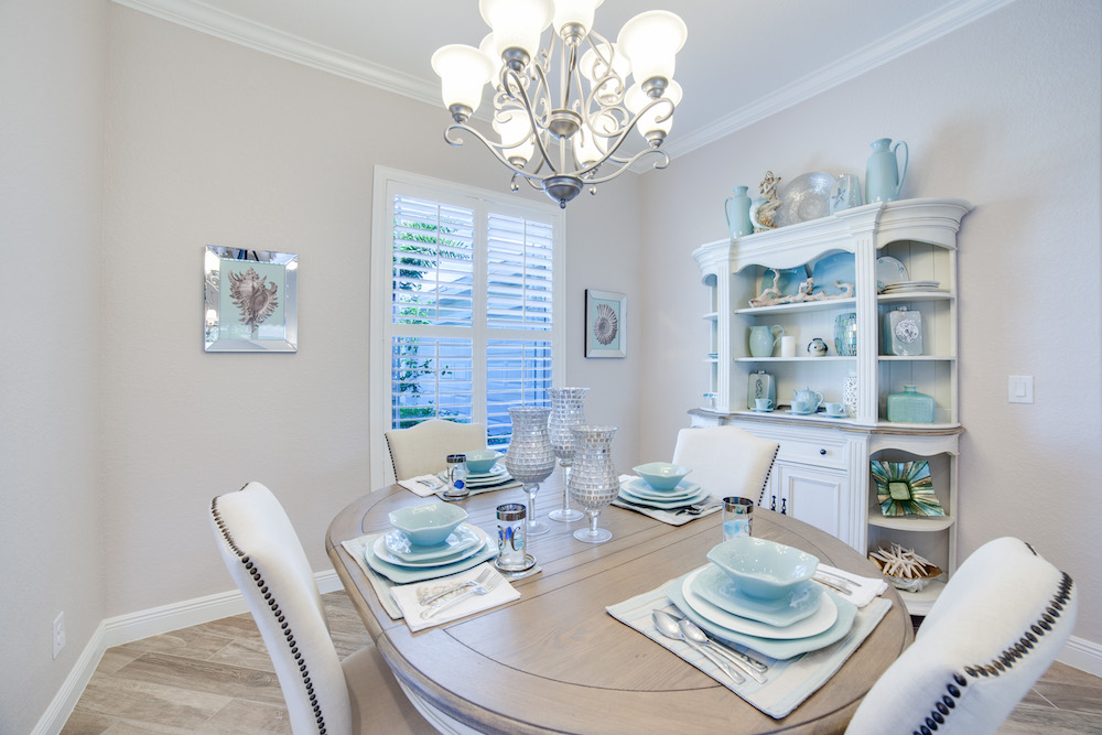 Cape Coral Home Builder Furnished Model Home Dining Room