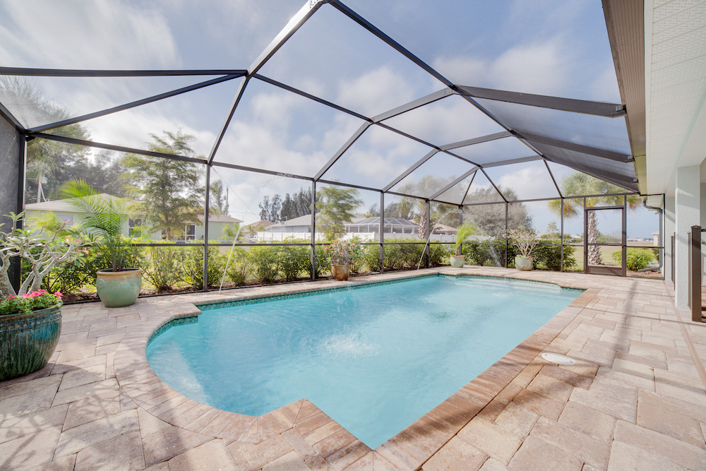 Cape Coral Home Builder Furnished Model Home Pool