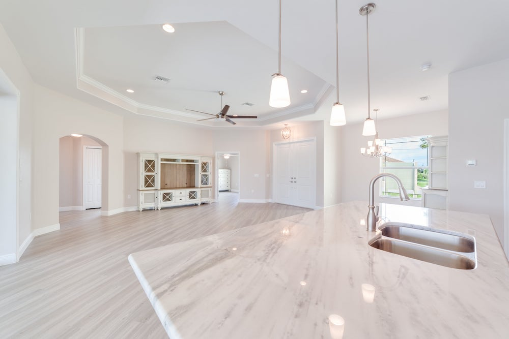 NW Cape Coral Custom Home Builder Living Room