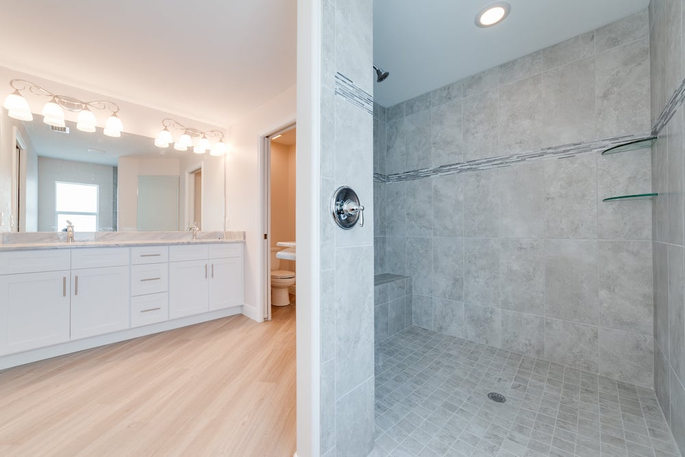 NW Cape Coral Custom Home Builder Master Bathroom
