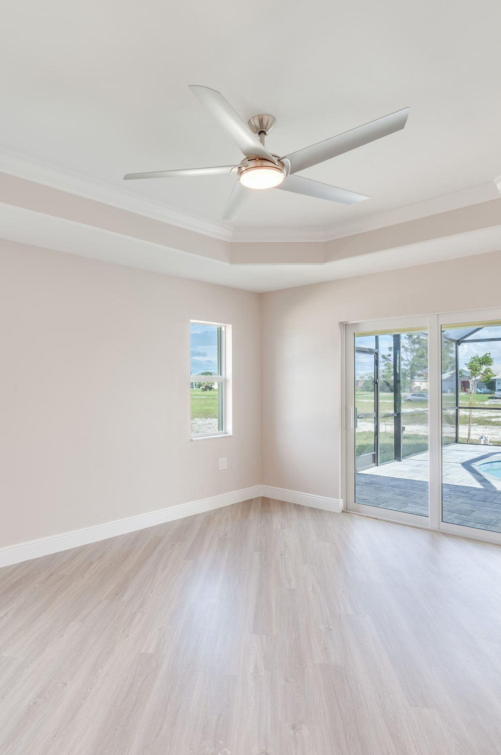 NW Cape Coral Custom Home Builder Master Bedroom