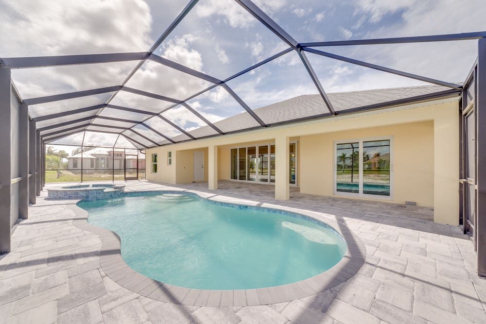NW Cape Coral Custom Home Builder Pool