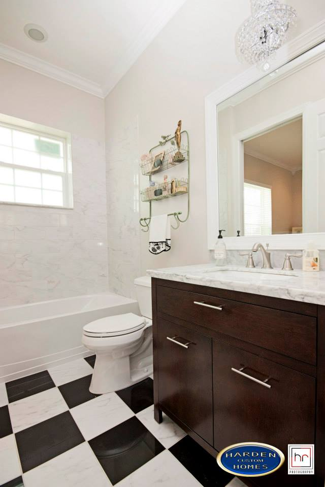 Palmino Fort Myers Home Custom Home Builder Guest Bathroom