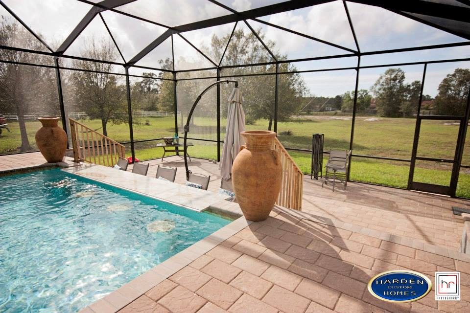 Palmino Fort Myers Home Custom Home Builder Lanai and Pool