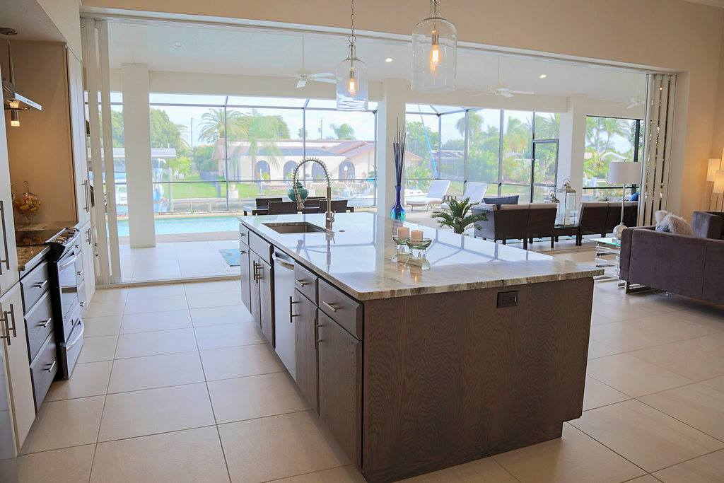 Pelican Cape Coral Custom Home Builder Kitchen View