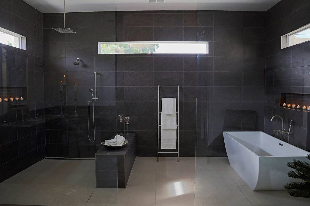 Pelican Cape Coral Custom Home Builder Master Bathroom Shower and Bathtub