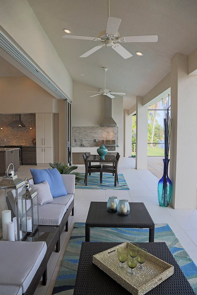 Pelican Cape Coral Custom Home Builder Outdoor Living Space
